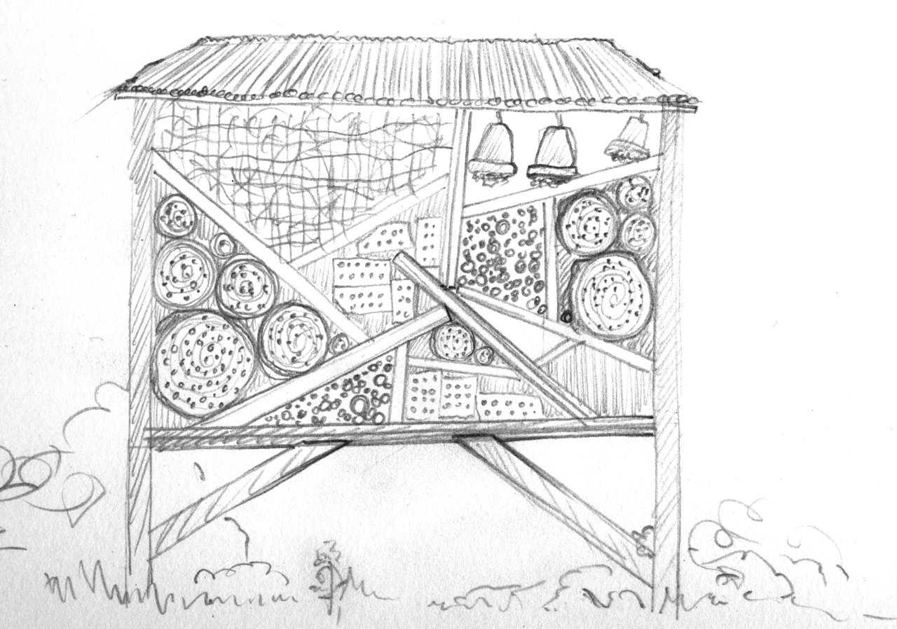 material f r insektenhotel insektenhotel bausatz mit bauanleitung selbst ein fsc holz. Black Bedroom Furniture Sets. Home Design Ideas